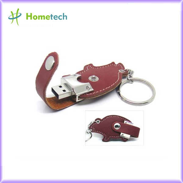 Anniversary Gift Leather USB Flash Disk 3.0