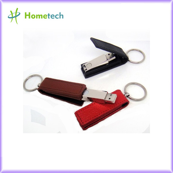 Red / Blue / Brown Leather 3.0 USB Flash Di
