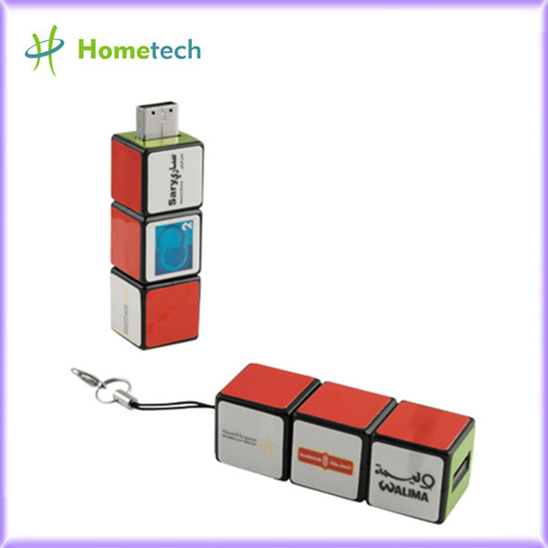 Plastic USB Flash Drive Rubik Magic Cube US
