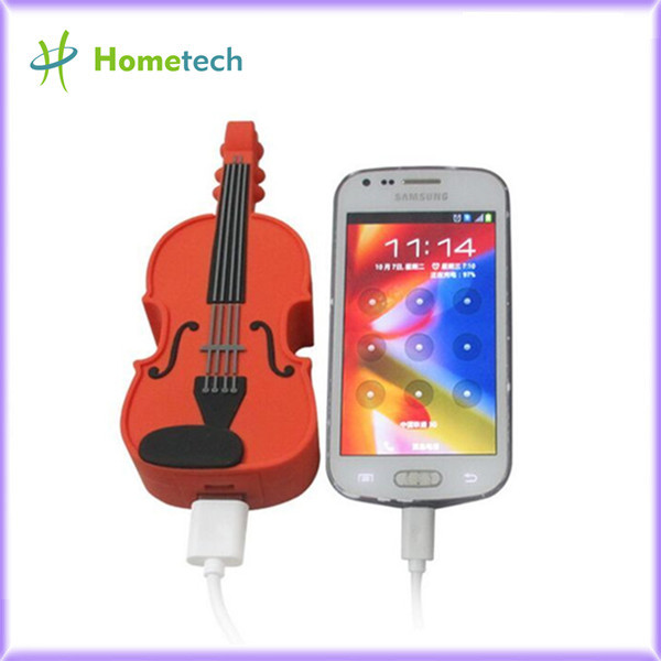 Custom PVC Guitar mobile power bank