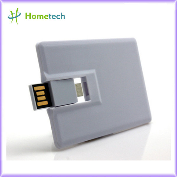 White Plastic Credit Card OTG USB Flash Dri