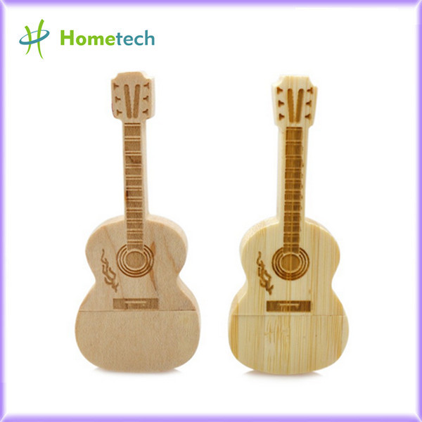 Guitar Wooden USB Flash Drive Pen Drive