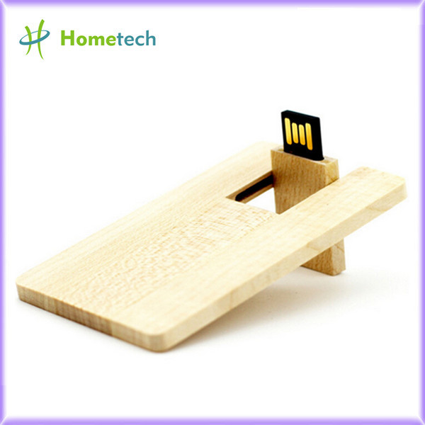Wooden Custom Logo card usb memory, Wood Pe