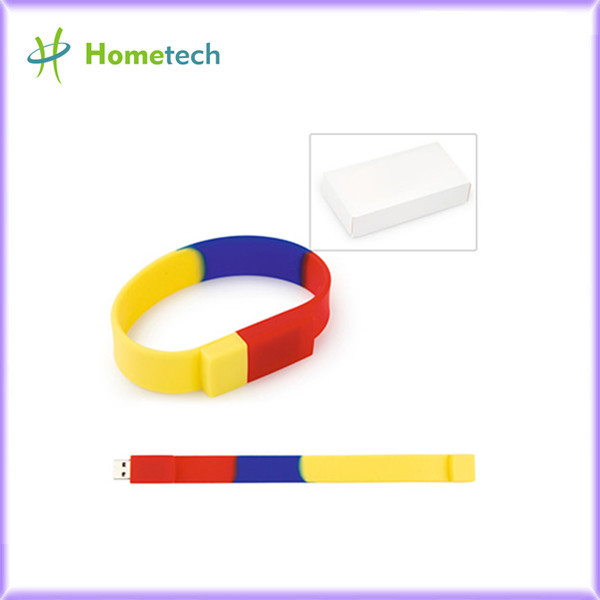 Premiums OEM Rainbow color Wristband USB Fl